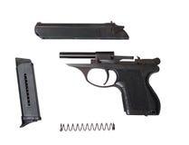 Arme à feu traumatique démontée de psm-9r photographie stock libre de droits