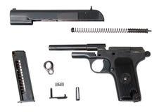 Arme à feu TTT-t traumatique démontée images libres de droits