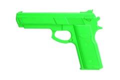 Arme à feu verte de formation d'isolement sur le blanc Photo libre de droits