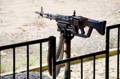Arme automatique de peloton de mitrailleuse Images libres de droits