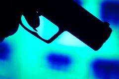 Arme automatique de pistolet de pistolet de 9mm images libres de droits