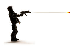 Arme d'allumage de soldat Image stock