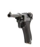 Arme de pistolet de pistolet d'isolement sur le fond blanc Photographie stock libre de droits