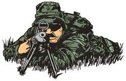 Armée de tireur isolé. Images stock