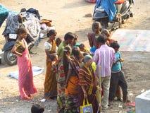 Arme indische Familie Stockbild