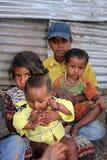 Arme Kinder stockbilder