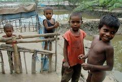 Arme Kinder in Indien Stockbild