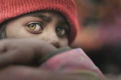Arme Kinder von Bihar stockfotografie