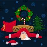 Arme Santa Claus in einer Falle Lizenzfreies Stockfoto