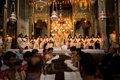 Armeńska ortodoks masa w Jerozolima Zdjęcie Stock