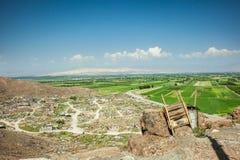 Armeńska wiejska dolina blisko Khor Virap Obrazy Royalty Free