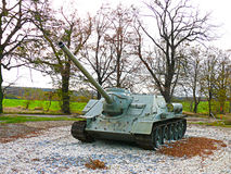 Arme soviétique de combat du réservoir T 32 de WWII Photo libre de droits
