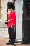 Armed beefeater standing post Stock Images