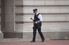 Armed British Policeman Stock Image