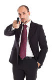 Armed businessman Stock Image