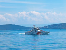 Armed coast guard boat  Royalty Free Stock Images