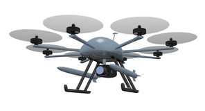 Armed drone Stock Photos