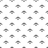 Armed fighter jet pattern, simple style. Armed fighter jet pattern. Simple illustration of armed fighter jet vector pattern for web Royalty Free Stock Photos