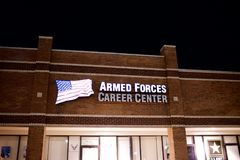 Armed Forces Career Center. Where civilians can enlist or join the Armed forces of the United States military Stock Images