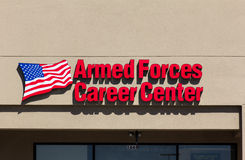 Armed Forces Career Center. SALINAS, CA/USA - MAY 13, 2014: Armed Forces Career Center. Armed Forces Career Centers recruit and enlist men and women into the Royalty Free Stock Images