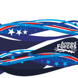 Armed Forces Day. An abstract illustration of Armed Forces Day Stock Image