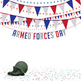Armed Forces Day bunting background EPS 10 vector Stock Photos