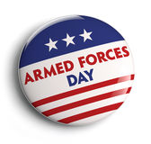 Armed Forces Day. Button badge. Clipping path included for easy selection Royalty Free Stock Images