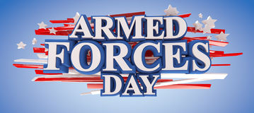 Armed Forces Day. With clipping path included for easy selection Royalty Free Stock Photography