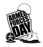 Armed Forces Day icon EPS 10 vector Stock Photos