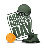 Armed Forces Day icon EPS 10 vector. Royalty free stock illustration. Perfect for greeting card, ad, promotion, poster, flier, blog, article, social media or royalty free illustration