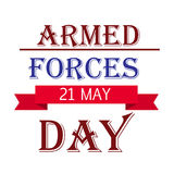 Armed forces day. Stock Photography