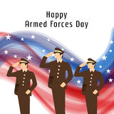 Armed forces day. Stock Images