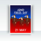 Armed forces day. Royalty Free Stock Photos