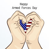 Armed forces day. Royalty Free Stock Photography