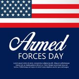 Armed forces day. Illustration of a Background for Armed forces day Royalty Free Stock Photo