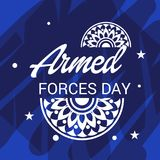 Armed forces day. Illustration of a Background for Armed forces day Royalty Free Stock Images