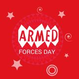 Armed forces day. Illustration of a Background for Armed forces day Stock Photo