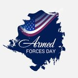 Armed forces day. Illustration of a Background for Armed forces day Royalty Free Stock Photos