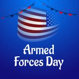 Armed forces day. Illustration of a Background for Armed forces day Stock Photos