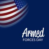 Armed forces day. Illustration of a Background for Armed forces day Royalty Free Stock Photography