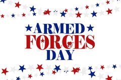 Armed Forces Day illustration Royalty Free Stock Photo