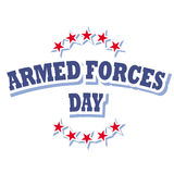Armed forces day logo. Armed forces day america logo snd sign isolated on white background  illustration Royalty Free Stock Images