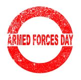 Armed Forces Day Rubber Stamp. Armed Forces Day red in stamp over a white background Stock Photography