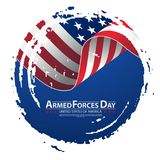 Armed forces day template poster design. Vector illustration background for Armed forces day. Vector illustration Celebration background for Armed Forces Day Stock Photos