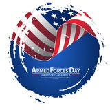 Armed forces day template poster design. Vector illustration background for Armed forces day. Vector illustration Celebration background for Armed Forces Day Stock Image