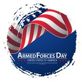 Armed forces day template poster design. Vector illustration background for Armed forces day. Vector illustration Celebration background for Armed Forces Day Royalty Free Stock Photos