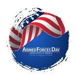 Armed forces day template poster design. Vector illustration background for Armed forces day. Vector illustration Celebration background for Armed Forces Day Royalty Free Stock Images