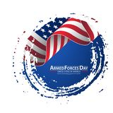 Armed forces day template poster design. Vector illustration background for Armed forces day. Vector illustration Celebration background for Armed Forces Day Stock Images