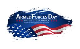 Armed forces day template poster design. Vector illustration background for Armed forces day. Vector illustration Celebration background for Armed Forces Day Stock Photography