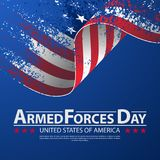 Armed forces day template poster design. Vector illustration background for Armed forces day. Vector illustration Celebration background for Armed Forces Day stock illustration